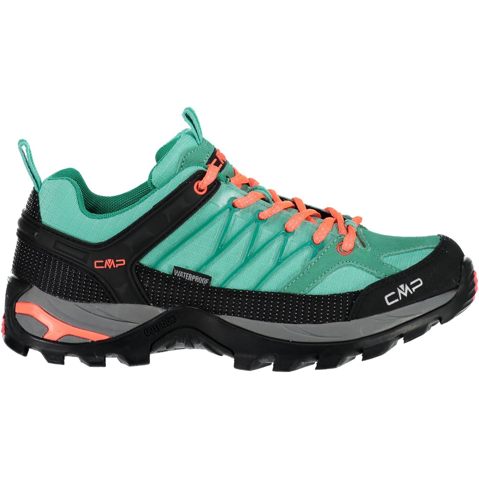 Details about CMP Trekking Shoes Outdoorschuh Rigel Low Wmn Trekking Shoes Wp Turquoise Mesh