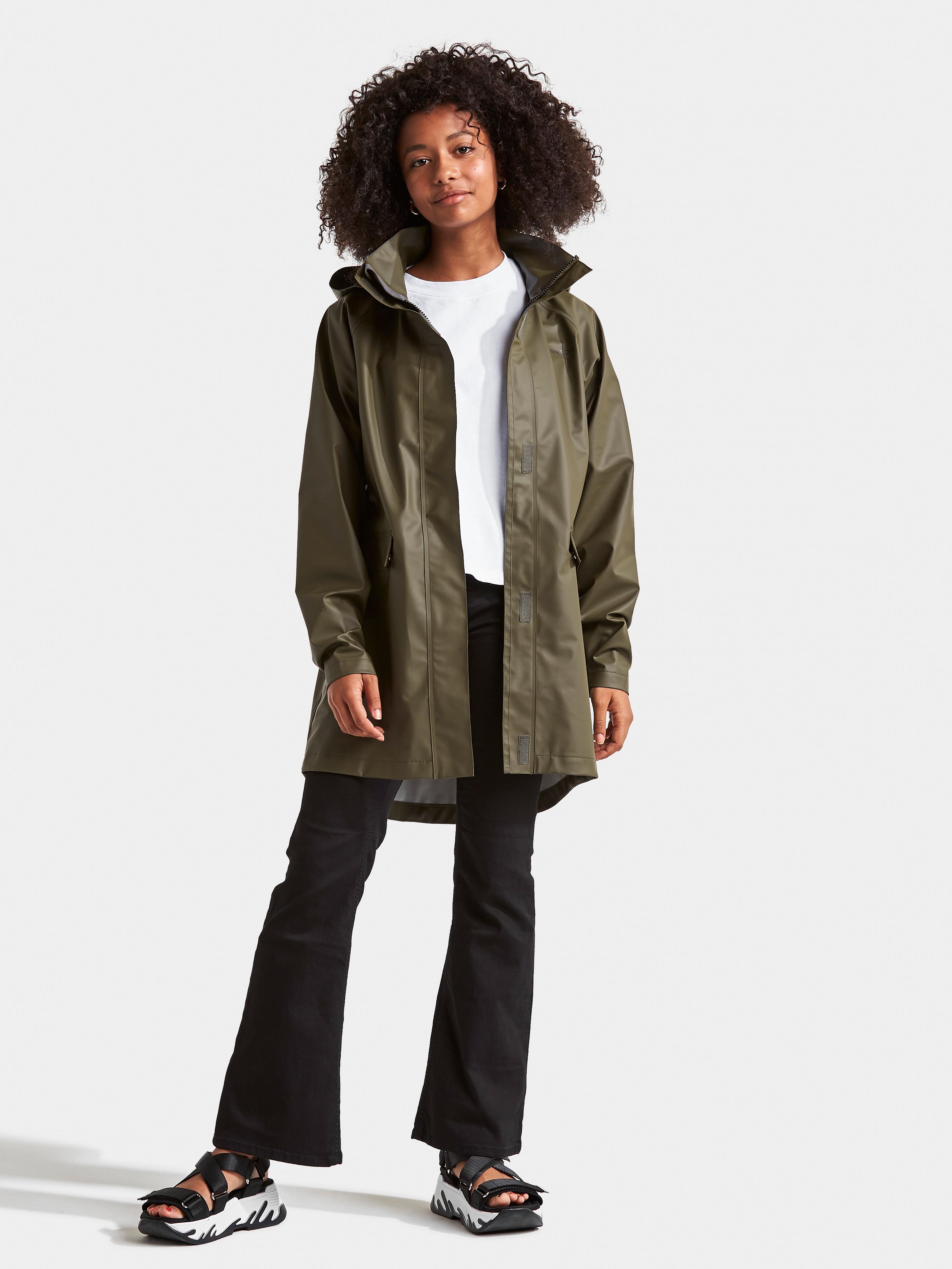Didriksons chica lluvia chaqueta chaqueta Elise GS galon JKT rosa viento densamente monocromo